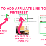 How to Add Affiliate link to Pinterest