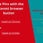 Save Pins with the Pinterest browser button