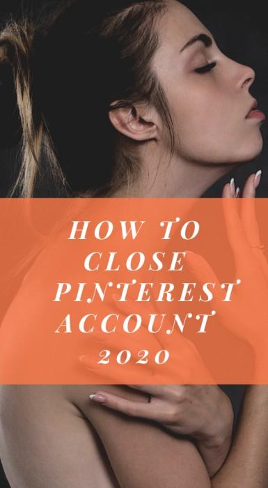 close pinterest account