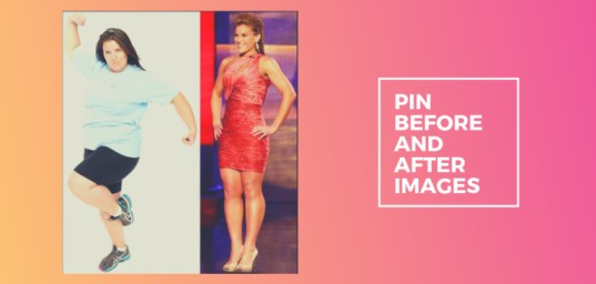 Pin before and after image