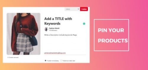 pin your products