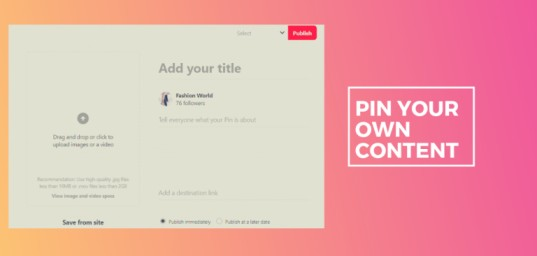 pin your own content