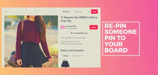 re pin someone pin to your board