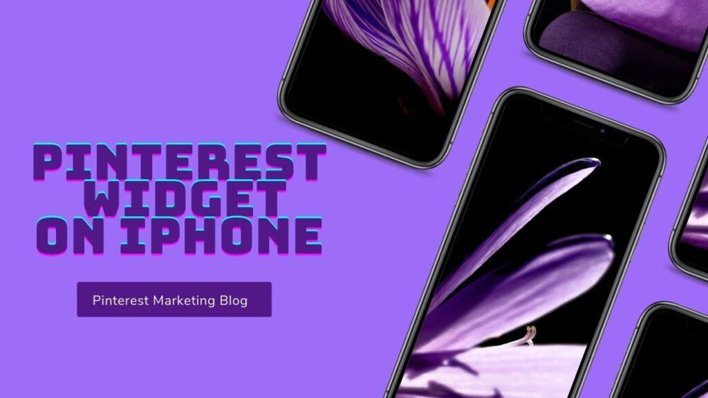 Pinterest Widget On iPhone