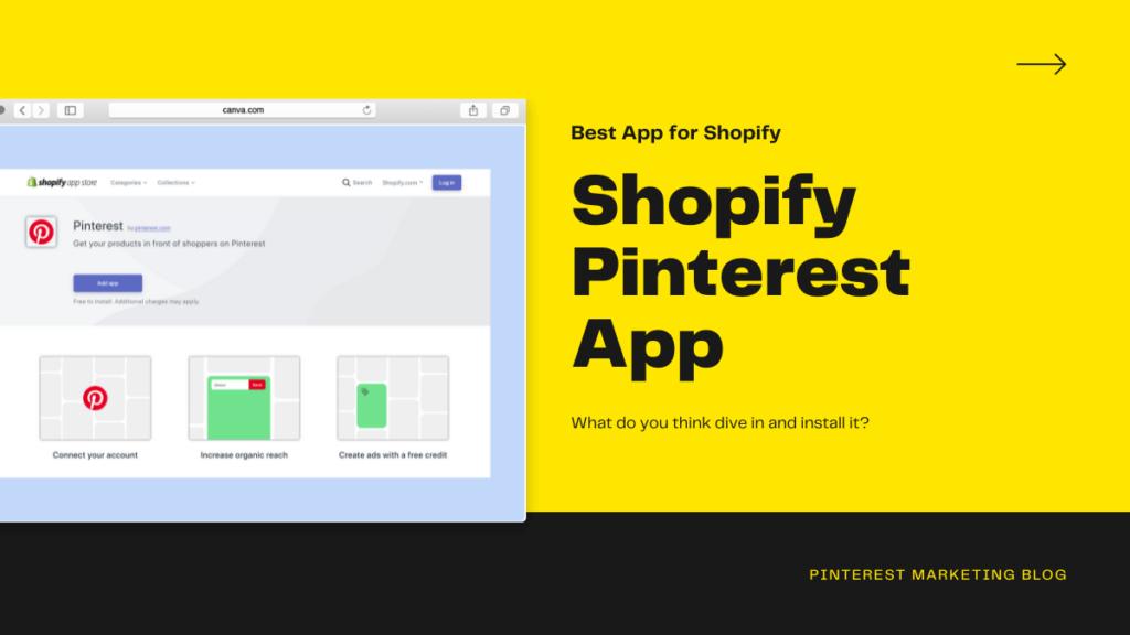 Shopify Pinterest App